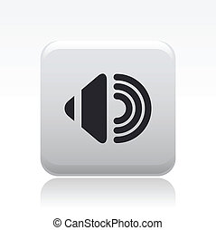 Vector illustration of single isolated audio icon