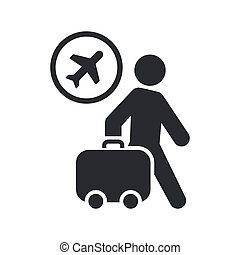 Vector illustration of single isolated travel icon