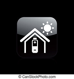 Vector illustration of single isolated home energy icon