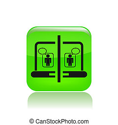 Vector illustration of single isolated chat icon