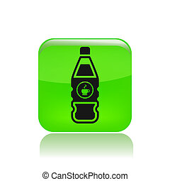Vector illustration of single isolated coffee bottle icon