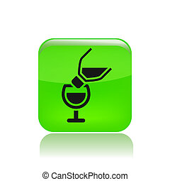 Vector illustration of single isolated pour icon