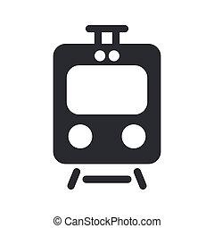 Wektor, Ilustracja, jednorazowy, odizolowany, pociąg, Ikona