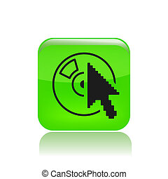Vector illustration of single isolated cd icon