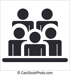 Vector illustration of single isolated people icon