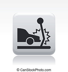 Vector illustration of single isolated crash icon