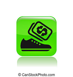Vector illustration of single isolated shoes sale icon