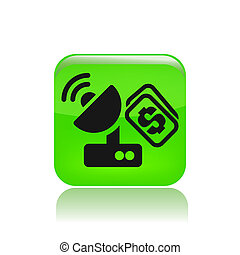 Vector illustration of single isolated antenna price icon
