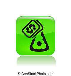 Vector illustration of single isolated food cost icon