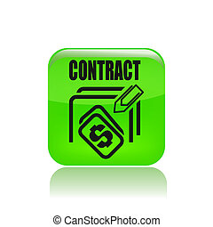Vector illustration of single isolated contract price icon