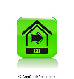 Vector illustration of single isolated go home icon