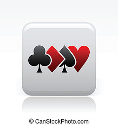Vector illustration of single isolated poker icon