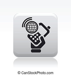 Vector illustration of single isolated world connection icon