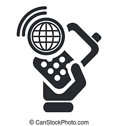 Vector illustration of single isolated smartphone connection icon