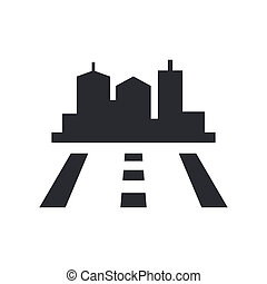Vector illustration of single isolated road icon