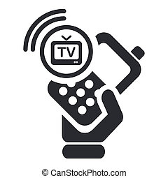 Vector illustration of single isolated tv-phone icon