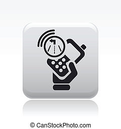 Vector illustration of single isolated navigate smartphone icon