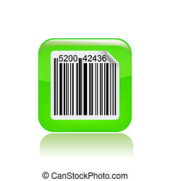 Vector illustration of single isolated barcode icon