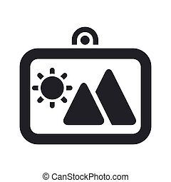 Vector illustration of single isolated photo icon