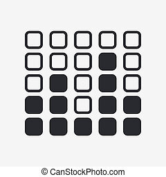 Vector illustration of single isolated levels icon