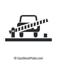 Vector illustration of single isolated border car icon