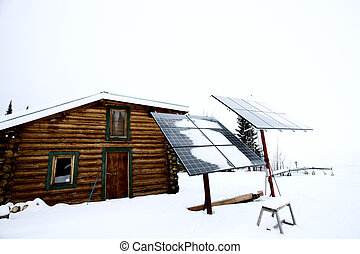 Solar Panels Saskatchewan Hunting Lodge