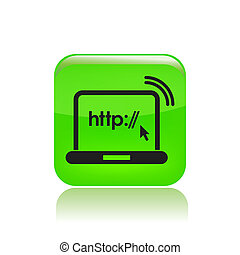 Vector illustration of single isolated http icon