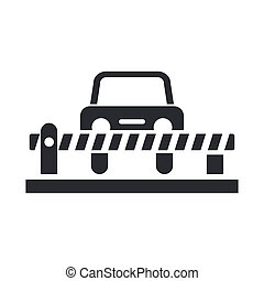 Vector illustration of single isolated car barrier icon