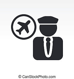 Vector illustration of single isolated pilot icon