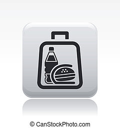 Vector illustration of single isolated fast food icon