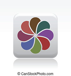 Vector illustration of single isolated abstract icon