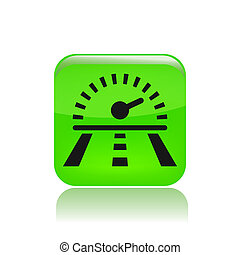 Vector illustration of single isolated speed road icon