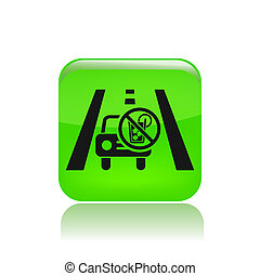 Vector illustration of single isolated drive not drunk icon