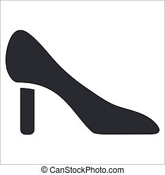 Vector illustration of single isolated shoe icon