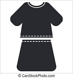 Vector illustration of single isolated dress icon