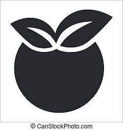 Vector illustration of single isolated apple icon