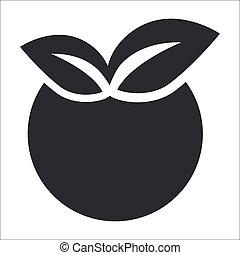 vecteur, Illustration, unique, isolé, pomme,...