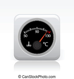 Vector illustration of single isolated temperature icon
