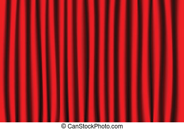 Vector illustration of isolated courtain background