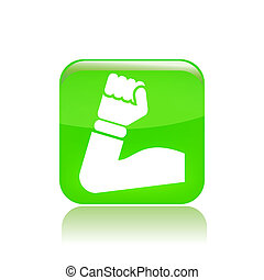 Vector illustration of single isolated muscle icon