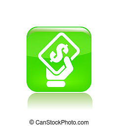 Vector illustration of single isolated payment icon