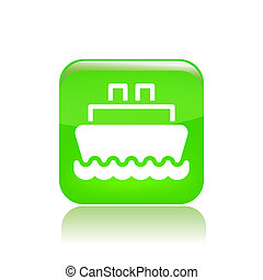 Vector illustration of single isolated navy icon