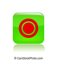 Vector illustration of single isolated record button icon
