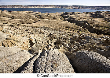 Sand Castles of Diefenbaker Lake Saskatchewan Badlands