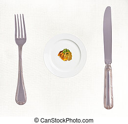Diet concept photo: Stop Eating - Diet concept: Stop Eating...
