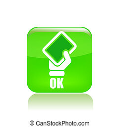 Vector illustration of single isolated ok icon