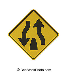 Traffic sign recycled paper - Dual Carriage Way End traffic...