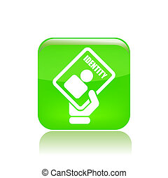 Vector illustration of single isolated ID card icon