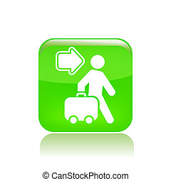 Vector illustration of single isolated travel direction icon