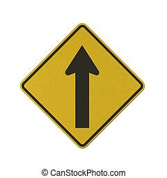 Traffic sign recycled paper - One Way Traffic traffic sign...